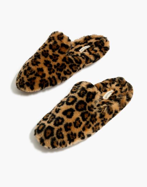 The Loafer Scuff Slipper in Leopard Faux-Fur in leopard faux fur image 1