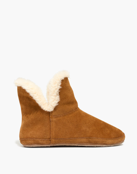 The Slipper Bootie in Suede in timber beam image 2