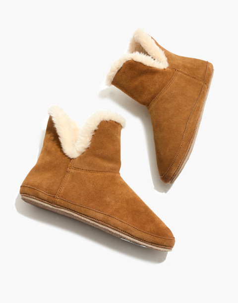 The Slipper Bootie in Suede in timber beam image 1