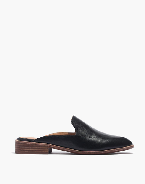 The Frances Loafer Mule in Leather in true black image 3