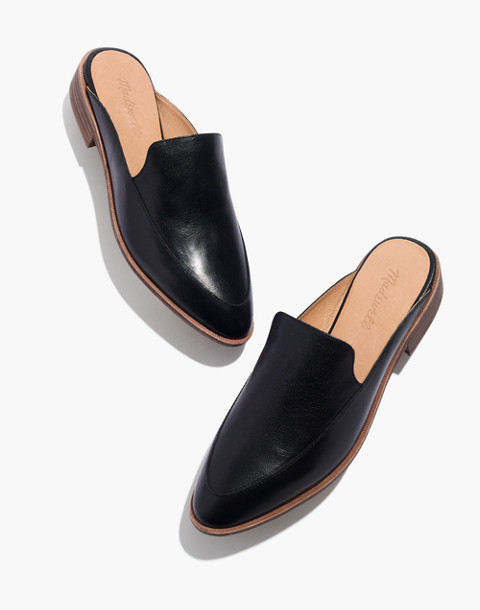 The Frances Loafer Mule in Leather in true black image 1