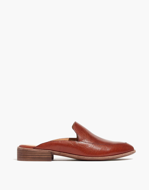 The Frances Loafer Mule in Leather in burnished mahogany image 3