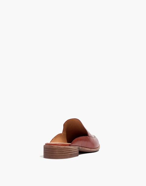 The Frances Loafer Mule in Leather in burnished mahogany image 4