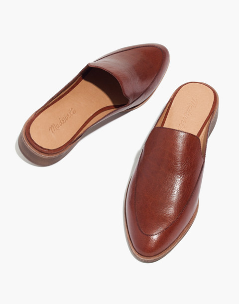 The Frances Loafer Mule in Leather in burnished mahogany image 1