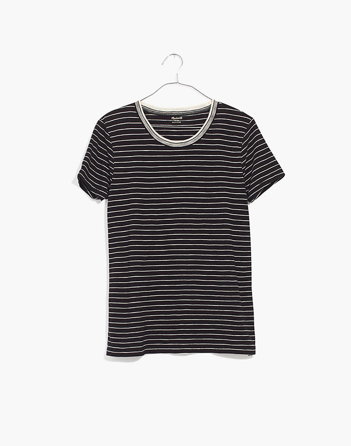 14e4e0c9ff74 Whisper Cotton Ringer Tee in Jessie Stripe