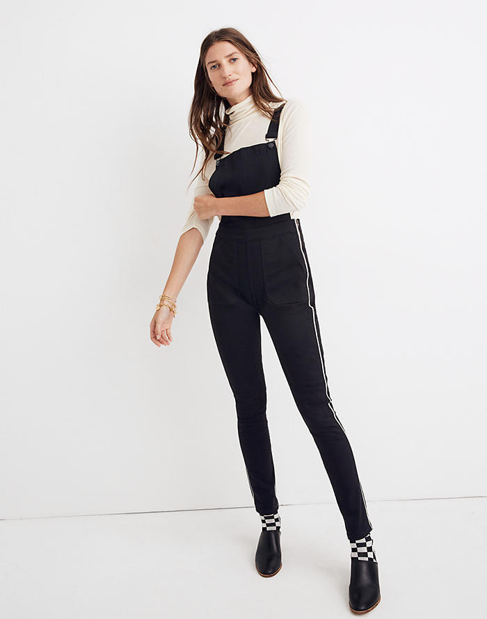 6aac788ca8 Skinny Overalls  Metallic Piping Edition