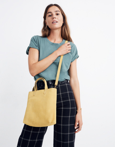The Zip-Top Transport Crossbody in Nubuck Leather in vintage chartreuse image 2