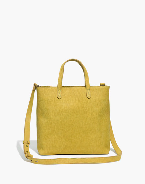 The Zip-Top Transport Crossbody in Nubuck Leather in vintage chartreuse image 1