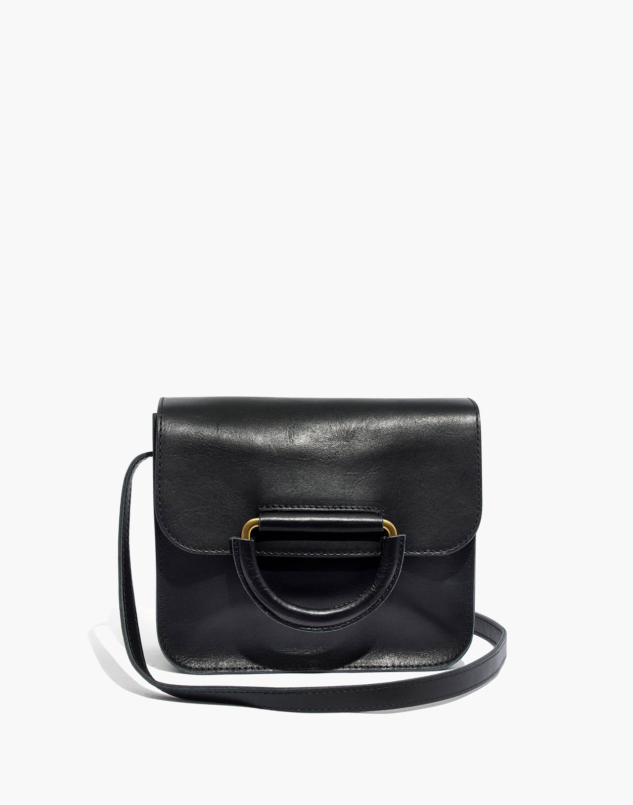 The Holland Shoulder Bag in Leather in true black image 1