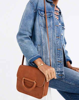 The Holland Shoulder Bag in Leather in english saddle image 2