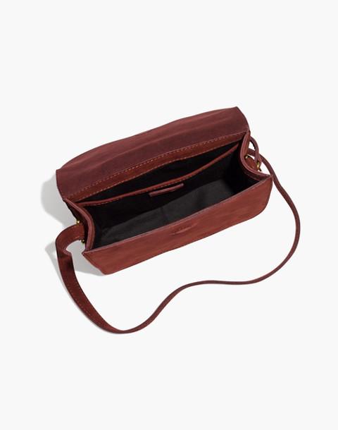 The Holland Shoulder Bag in Nubuck Leather in dark cabernet image 2