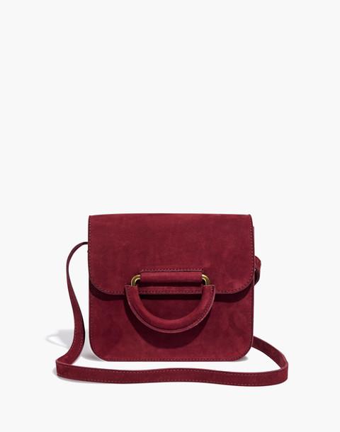 The Holland Shoulder Bag in Nubuck Leather in dark cabernet image 1
