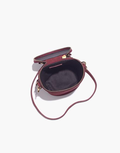 The Holland Binocular Bag in Nubuck Leather in dark cabernet image 3