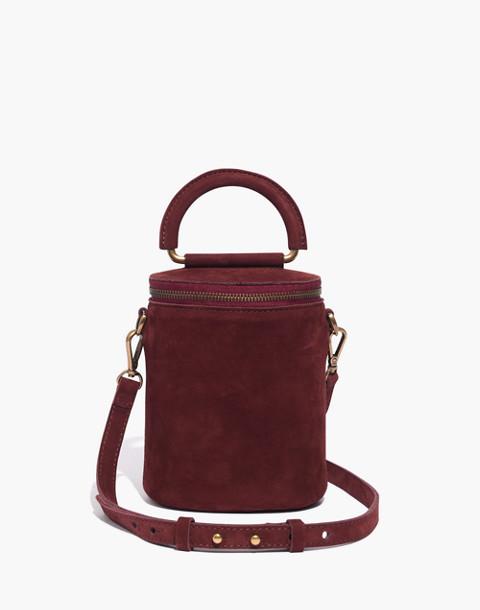 The Holland Binocular Bag in Nubuck Leather in dark cabernet image 1