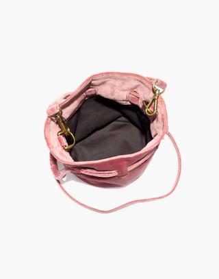 The Florence Drawstring Crossbody Bag in Velvet in autumn berry image 2