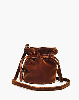 The Florence Drawstring Crossbody Bag In Velvet