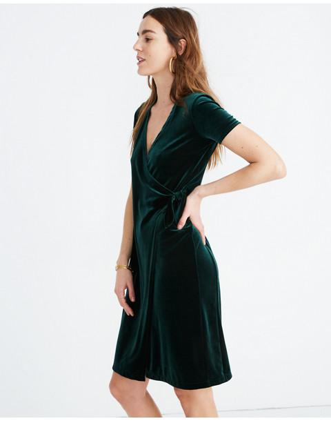 Velvet Side-Tie Dress in smoky spruce image 2