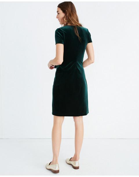 Velvet Side-Tie Dress in smoky spruce image 3