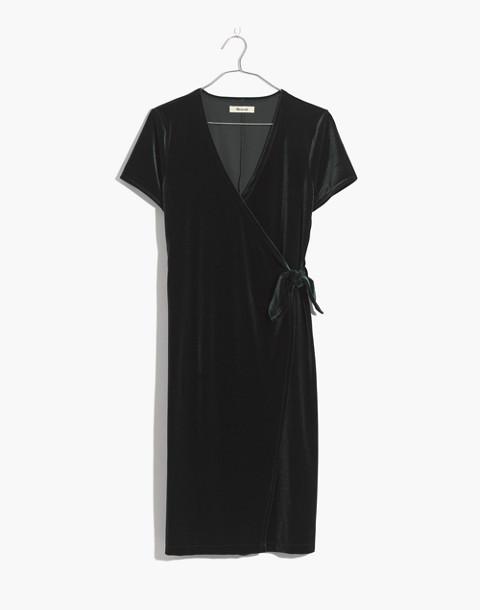Velvet Side-Tie Dress in smoky spruce image 4