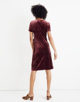 Velvet Side-Tie Dress in pinot noir image 3