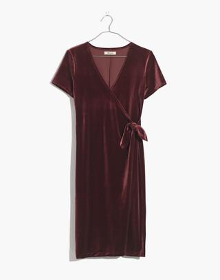 Velvet Side-Tie Dress in pinot noir image 4