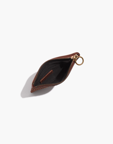 The Leather Pouch Wallet in Spotted Calf Hair in bittersweet image 2