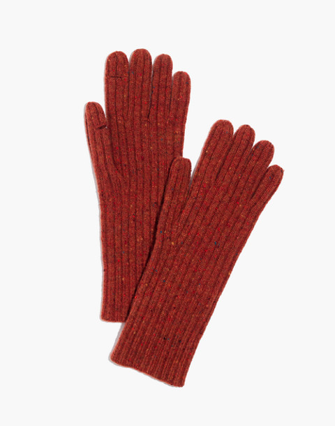 Ribbed Texting Gloves in rusty torch image 1