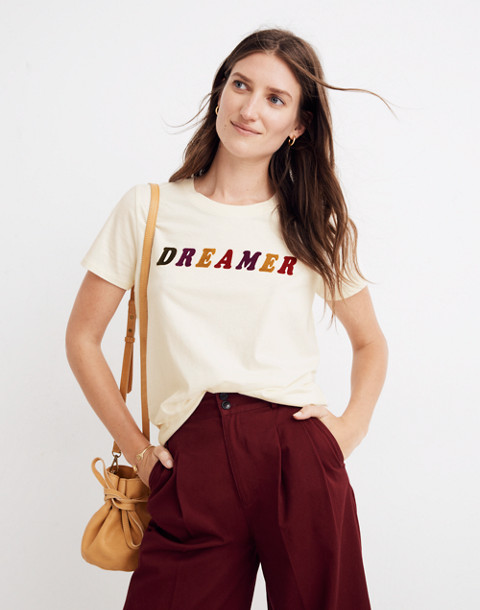 Dreamer Graphic Tee in pearl ivory dreamer image 2