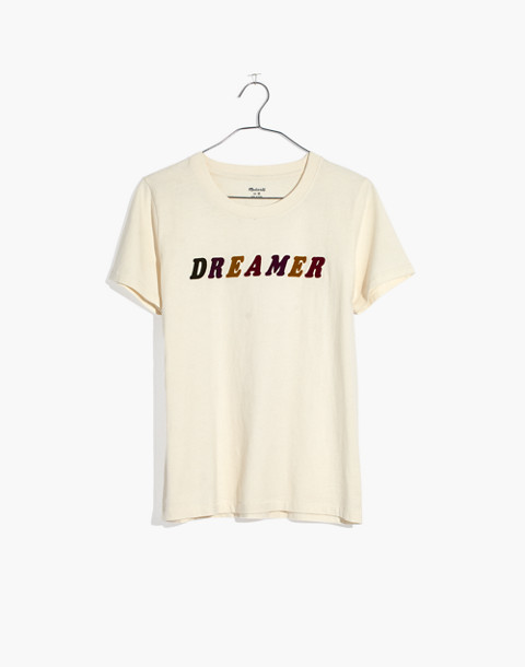Dreamer Graphic Tee in pearl ivory dreamer image 4