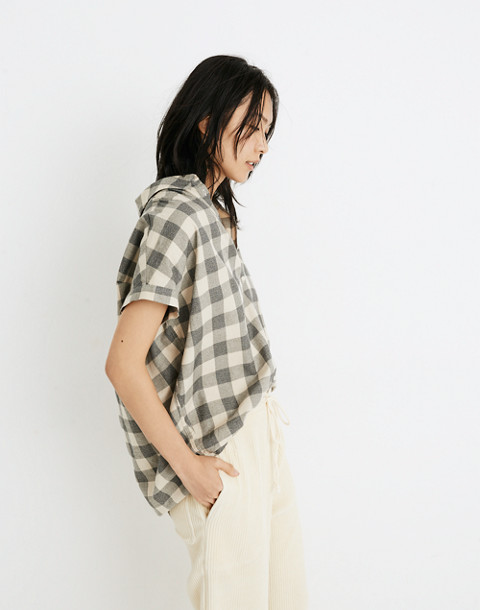 Central Shirt in Buffalo Check in hudson plaid antique cream image 2