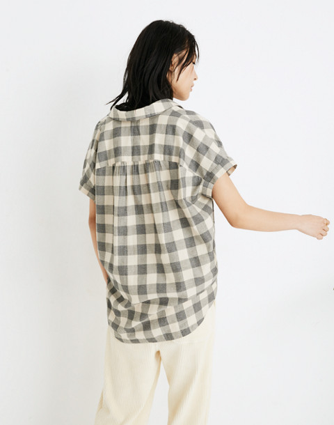 Central Shirt in Buffalo Check in hudson plaid antique cream image 3