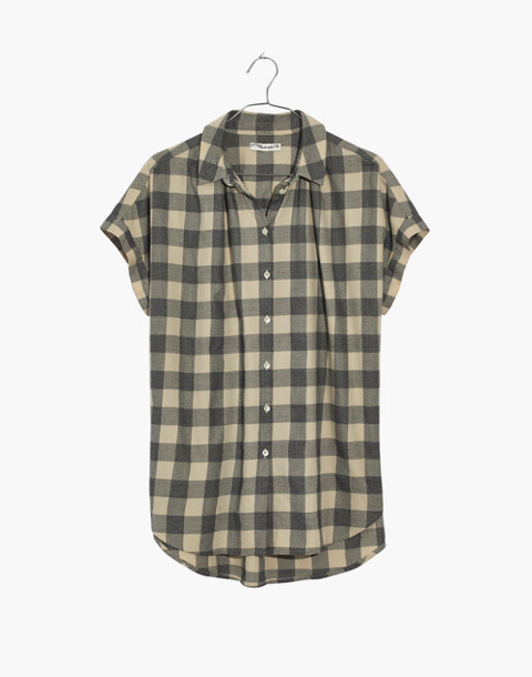 Central Shirt in Buffalo Check in hudson plaid antique cream image 4