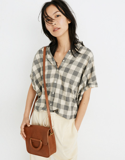 Central Shirt in Buffalo Check in hudson plaid antique cream image 1