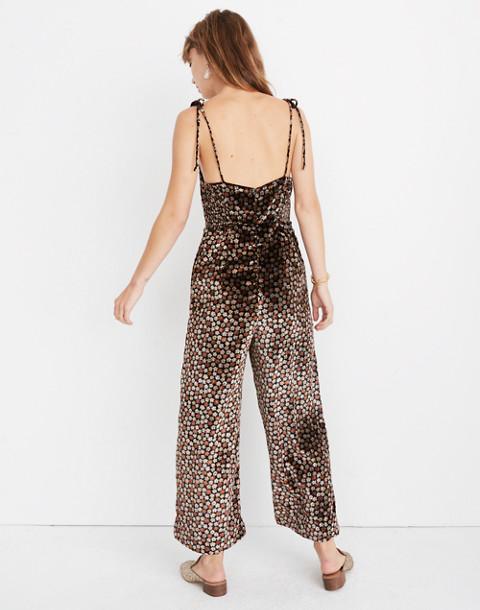 Velvet Thistle Cami Jumpsuit in Petite Blooms in calico true black image 3