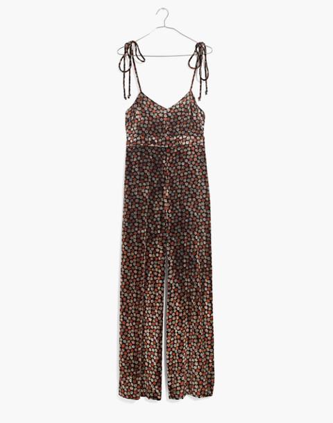 Velvet Thistle Cami Jumpsuit in Petite Blooms in calico true black image 4