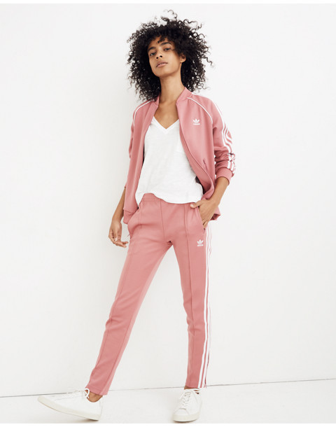 Adidas® Originals Track Pants in pink stripe image 2