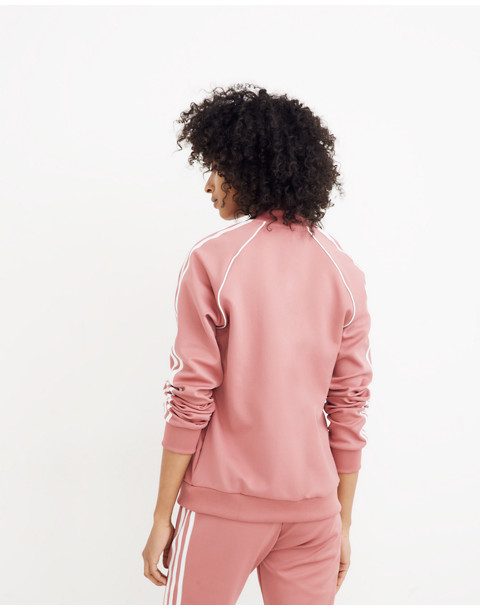 Adidas® Originals SST Track Top in pink stripe image 3