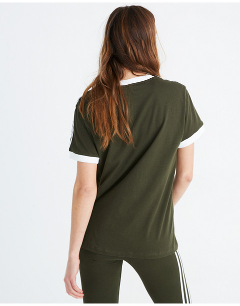 Adidas® Originals 3-Stripes Tee in green stripe image 3