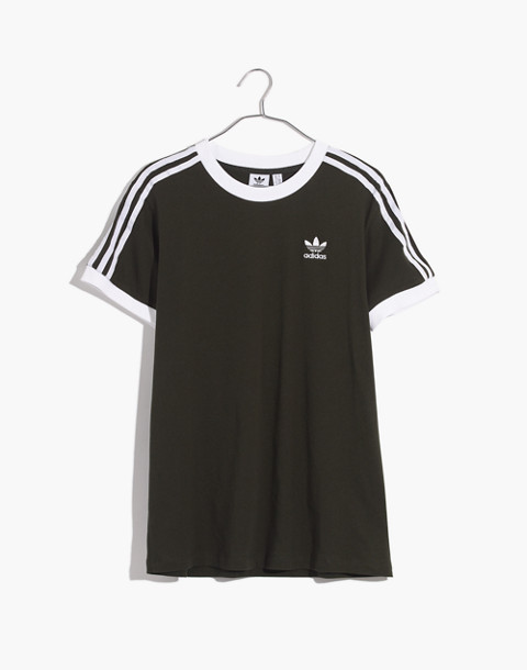 Adidas® Originals 3-Stripes Tee in green stripe image 4