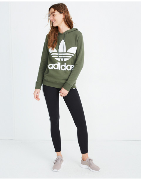 Adidas® Originals Trefoil Hoodie Sweatshirt in green adidas image 2