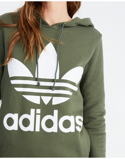 Adidas® Originals Trefoil Hoodie Sweatshirt in green adidas image 3