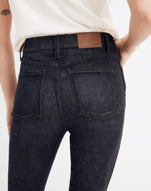 "10"" High-Rise Skinny Jeans in Mosby Wash: Drop-Hem Edition in mosby wash image 3"