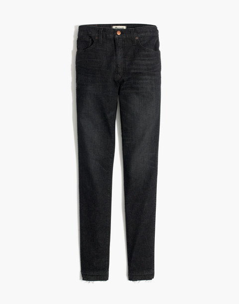 "10"" High-Rise Skinny Jeans in Mosby Wash: Drop-Hem Edition in mosby wash image 4"