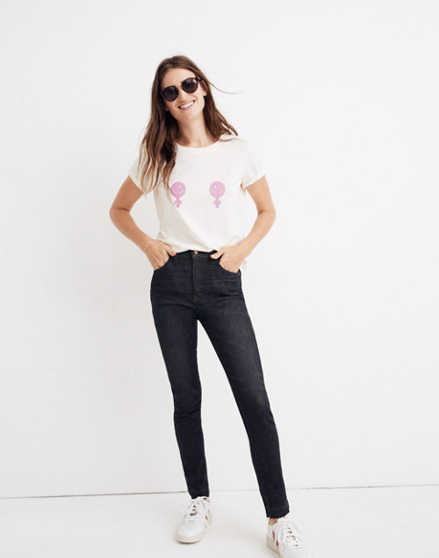 "10"" High-Rise Skinny Jeans in Mosby Wash: Drop-Hem Edition in mosby wash image 1"