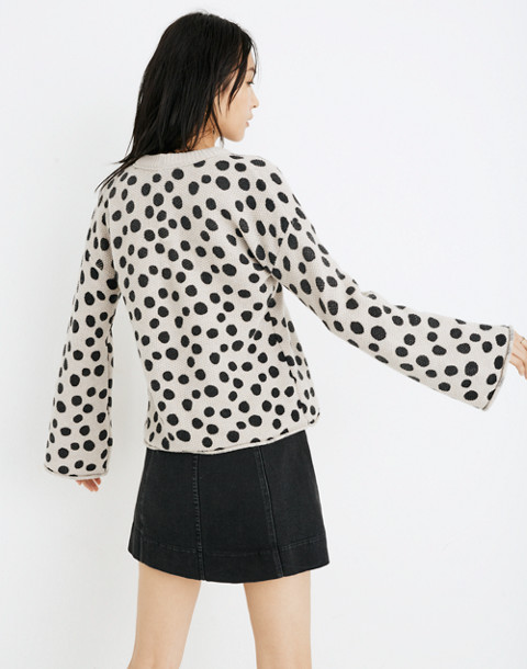 Leopard Dot Pullover Sweater in heather biscuit image 3