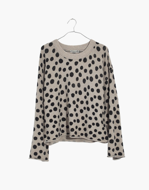 Leopard Dot Pullover Sweater in heather biscuit image 4