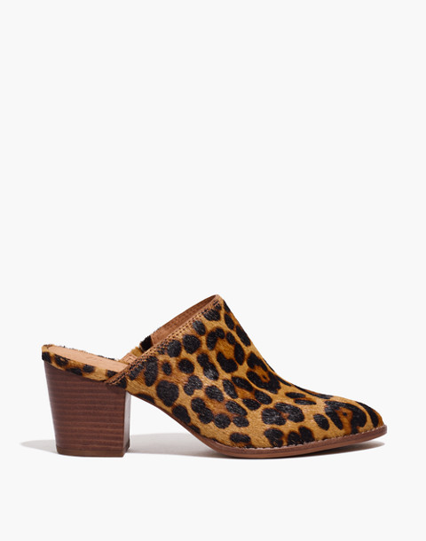 The Harper Mule in Leopard Calf Hair in truffle multi image 3