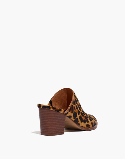 The Harper Mule in Leopard Calf Hair in truffle multi image 4