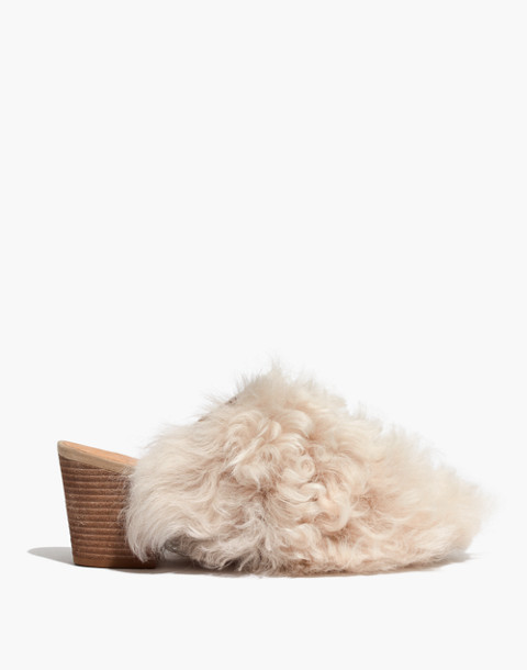 The Harper Mule in Mongolian Shearling in hthr sand image 3