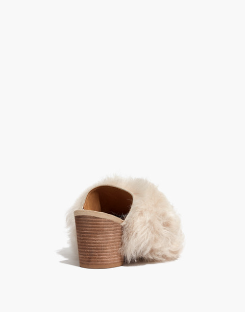 The Harper Mule in Mongolian Shearling in hthr sand image 4
